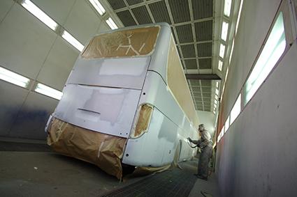 Film de masquage avant peinture, de masquage de traitement de surfaces mécaniques pour bus et camion